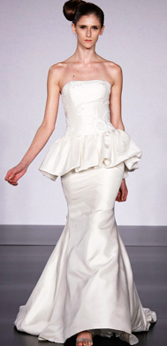 Reverie by Melissa Sweet - Pretty Peplum - Runway Report- Spring 2010 - Fashion - InStyle Weddings_1245654094105